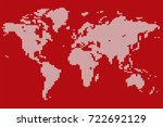 world map stylized knitted... | Shutterstock .eps vector #722692129