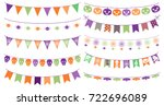 cute vector buntings for... | Shutterstock .eps vector #722696089