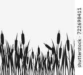 Water Reed Plant Cattails Black ...