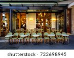 typical view of the parisian... | Shutterstock . vector #722698945