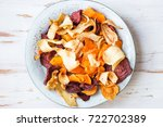 bowl of healthy snack from... | Shutterstock . vector #722702389