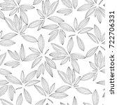 monochrome seamless pattern... | Shutterstock .eps vector #722706331