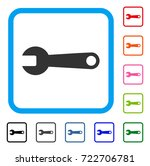 spanner icon. flat gray...