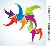 3d arrows | Shutterstock .eps vector #72270697