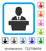 politician icon. flat iconic... | Shutterstock .eps vector #722708434