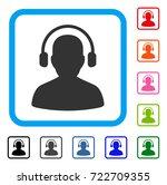 listen operator icon. flat...