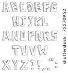 vector hand drawn alphabet | Shutterstock .eps vector #72270952