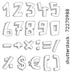 vector hand drawn numbers and... | Shutterstock .eps vector #72270988