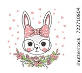 Cute Rabbit Girl With Bow ...