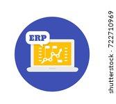 erp software icon | Shutterstock .eps vector #722710969