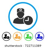 doctor appointment clock... | Shutterstock .eps vector #722711389