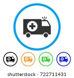 emergency rounded icon. style... | Shutterstock .eps vector #722711431
