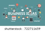 business ideas banner. idea of... | Shutterstock .eps vector #722711659