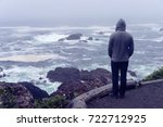 lonely man standing in front of ... | Shutterstock . vector #722712925