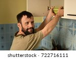 man with down syndrome | Shutterstock . vector #722716111