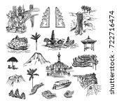 drawing sketch elements ... | Shutterstock .eps vector #722716474