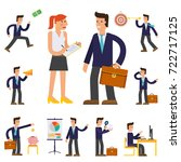 four illustrations of cartoon... | Shutterstock .eps vector #722717125