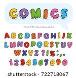 comics font design. funny hand... | Shutterstock .eps vector #722718067