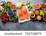 healthy food clean eating... | Shutterstock . vector #722718079