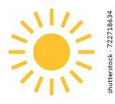 sun vector icon | Shutterstock .eps vector #722718634