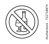 forbidden sign with wine bottle ... | Shutterstock .eps vector #722718874