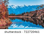 twin peaks reflect in the... | Shutterstock . vector #722720461