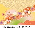 japanese pattern background   Shutterstock .eps vector #722720551