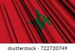 fragment flag of morocco. 3d... | Shutterstock . vector #722720749