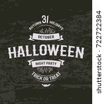 halloween retro invitation. 31... | Shutterstock .eps vector #722722384