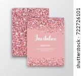 rose gold sequins. pink sparkle ... | Shutterstock .eps vector #722726101