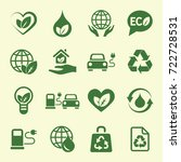 ecology protection green icons... | Shutterstock .eps vector #722728531