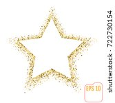 golden star vector banner on... | Shutterstock .eps vector #722730154