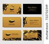 branding for salon eyelash...   Shutterstock .eps vector #722731549