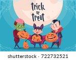 happy halloween trick or treat... | Shutterstock .eps vector #722732521