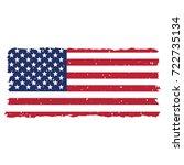 grunge usa flag | Shutterstock .eps vector #722735134