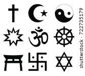 religious symbols vectors | Shutterstock .eps vector #722735179