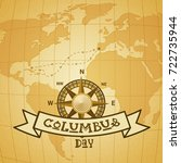 happy columbus day national usa ... | Shutterstock .eps vector #722735944