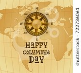 happy columbus day national usa ... | Shutterstock .eps vector #722736061