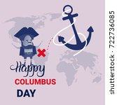 happy columbus day national usa ...   Shutterstock .eps vector #722736085