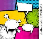 pop art comics book magazine... | Shutterstock .eps vector #722739655