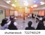 blurred business or education... | Shutterstock . vector #722740129