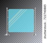 empty glass screen banner... | Shutterstock .eps vector #722740885