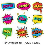 retro comic colorful speech... | Shutterstock .eps vector #722741287