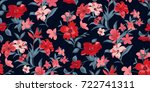 seamless floral pattern in... | Shutterstock .eps vector #722741311