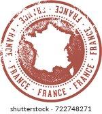 vintage france europe travel... | Shutterstock .eps vector #722748271