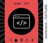 code editor icon | Shutterstock .eps vector #722751685