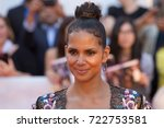 Small photo of TORONTO ON - SEPTEMBER 13, 2017: Halle Berry looks radiant at Roy Thompson Hall, at the premiere of Kings. Toronto International Film Festival