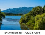 landscape of lake in mountain... | Shutterstock . vector #722757295