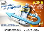 sport drink ads  plastic bottle ... | Shutterstock .eps vector #722758057