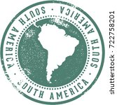 vintage south america continent ... | Shutterstock .eps vector #722758201